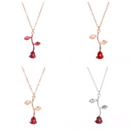 $enCountryForm.capitalKeyWord UK - new Fashionable Rose necklaces temperament personality Rose Flower Pendant valentine gift for ladies pendant necklaces T2C5055
