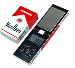 Wholesale 1pcs g x g Digital Pocket Scale Balance Weight Jewelry Scales gram Cigarette Case scales