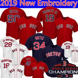 bbff1aab3 50 Mookie Betts Boston 19 Jackie Bradley Jr. Red Sox Jersey 16 Andrew  Benintendi 28 J.D. Martinez 34 David Ortiz 41 Sale Baseball