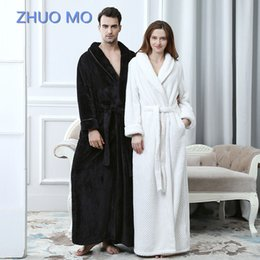 fe36ee9b50 Men Women Long Bath Robe Bath Towel Bathrobe Coral Velvet Pajamas Body Spa  Super Absorbent Home Decoration Solid Gown Towel