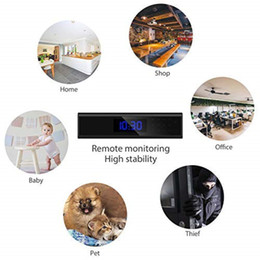 Motion Activated Camera Recorder Australia - Mini Home Security Nanny Cam WiFi Alarm Clock Camera 1080P Wireless Video Recorder 140 Angle Camera Night Vision Camera Motion Activated DVR