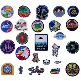 travel shirts UK - Travel Alone Iron On Patches Badges for Sew Seam Tailoring Clothes Suits of Coat Jacket Trousers T-shirt Pants Ornament Apparel