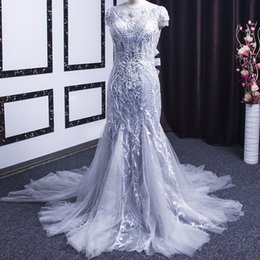 $enCountryForm.capitalKeyWord Australia - 2019 Mermaid Big Bow Evening Dresses Open Keyhole Back Exquisite Hand Made Flower Illusion Neckline Crystal Pearl Beaded Tassel Prom Dresses