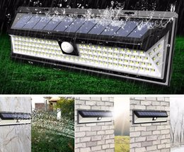 pir sensor home security outdoor Canada - LED Solar Power PIR Motion Sensor Wall Light 90 LED Outdoor Waterproof Energy Saving Street Yard Path Home Garden Security Lamp