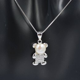 amazing pendants NZ - 2019 sterling silver lovely Bear Pendant necklace for women Valentine's Day gifts amazing design with shinning zircon