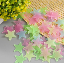 3d Wall Star Stickers Australia - 100pcs Glowing Star Stickers for Ceiling 3D Stars Glow In The Dark Wall Stickers Luminous Fluorescent Wall Stickers For Kids Baby Bedroom