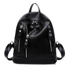 d3f0e86d632e Women Backpack Fashion Female Bead Shoulder Bag PU Leather Backpacks For  Girls Trendy Solid School Bag Mochila Feminina Bolsa