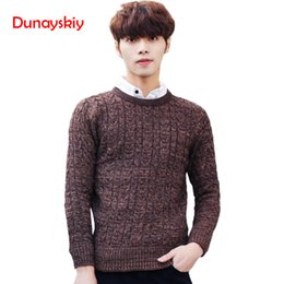 fcc32ce8f 2018 New Autumn Winter Fashion Men s Sweaters Warm Thick Slim Fit Men  Pullover Cotton Trend Knitted Jacquard Sweater Men
