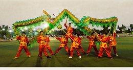Green draGon mascot online shopping - outdoor decorate m size golden plated dragon dance player Folk mascot costume china special culture holiday party