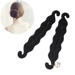 Foam bun accessory online shopping - M MISM Girls Magic French Foam Sponge Donut Bun Maker Imitation Pearl Elegant DIY Hairstyle Tools Curler Roller Hair Accessories