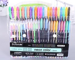 $enCountryForm.capitalKeyWord Australia - Hot 48 color fresh flash pen DIY student graffiti coloring stationery supplies stationery highlighter gouache mini wholesale