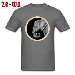 Indian Men S T Shirt NZ - Classic T-shirt Men African Elephant Print Tee Shirts Indian Art Design Tops Animal On Mens Tshirt Custom Gift Clothes Cotton