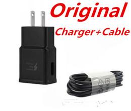 samsung wall charger original 2019 - Original S8 S10 2A 5v 1.67A 9v US EU usb wall charger fast charger home adapter charger set EP-TA20JBE+EP-DG950CBE disco