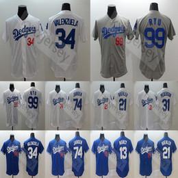Discount los angeles baseball - Los Angeles Men's Dodgers Jersey Hyun-Jin Ryu Max Muncy Joc Pederson Chris Taylor Kenley Jansen Yu Darvish 3 Chris
