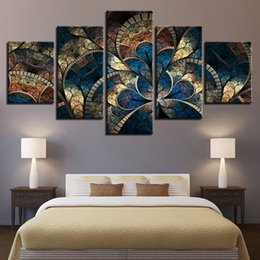$enCountryForm.capitalKeyWord Australia - Prints Wall Art Canvas 5 Pieces Abstract Flower Painting Fashion Modular Pictures Vintage Poster Home Decor Living Room Frame