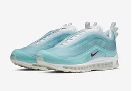 ee44a79c9710e 2019 Nike Air 97 Max Shanghai Kaleidoscope SH BY CASH RU Ice Blue White Red  Man Running Shoes Sneakers CI1508-400 With Box
