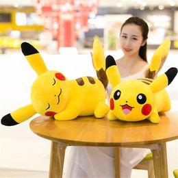 Venta al por mayor de Venta caliente 11 pulgadas 28 cm 2 estilo Pikachu almohada felpa muñeca de juguete para niños mejores regalos de vacaciones