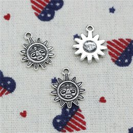 Bracelet Pendants Sun Australia - 172pcs Charms sun sunburst 20*16mm Pendant,Tibetan Silver Pendant,For DIY Necklace & Bracelets Jewelry Accessories