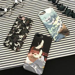 Plastic Green Apples Australia - Vogue hipster Crane for iPhone7 6s mobile phone case 8plus apple xs max xr matte set