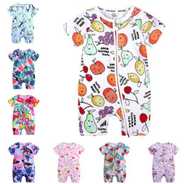 leopard baby pajamas 2021 - New Baby Romper short Sleeve Zipper Newborn Baby Boy Clothes summer Cotton Baby Pajamas 0-24 M Kids Clothing