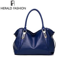 Herald Moda Lüks Çanta Kadın Omuz Çantası Rahat Büyük Bez Çantalar Hobo Yumuşak Deri Bayanlar Crossbody Messenger Çanta Kesesi # 34536 indirimde