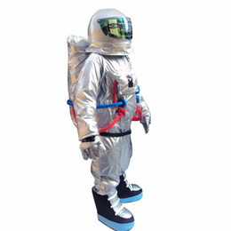 Wholesale space suits for sale - Group buy 2019 Discount factory sale Space suit mascot costume Astronaut mascot costume with Backpack glove shoes
