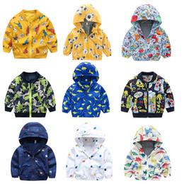 $enCountryForm.capitalKeyWord Australia - Infant Unisex Dinosaur Printed Jackets 10+Baby Baseball Uniform Boy Zipper Cotton Jacket Cartoon Dinosaur Printed Casual Hooded Outwear 1-6T