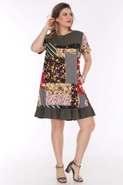 Toptan satış pianoluce Cep Tunik Elbise Haki 3282 Kadın Büyük Beden Schier