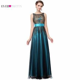 $enCountryForm.capitalKeyWord NZ - Elegant Evening Dresses A Line Sleeveless Green Ever Pretty Ep08740 Evening Round Neck Long Dresses Women 2018 New Arrival Gowns Y19051401