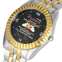 Unique Watches For Men Australia - Luxury Quartz Analog Watch for Men Classic Golden Case Stainless Steel Band Wristwatch Unique Husband Series Black Dial Watches for Male