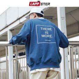 Discount japanese clothes sweatshirt - LAPPSTER Men Japanese Streeetwear Letter Hoodies 2019 Man Hip Hop Loose Sweatshirts Male Korean Fashion Hoodies Colorful