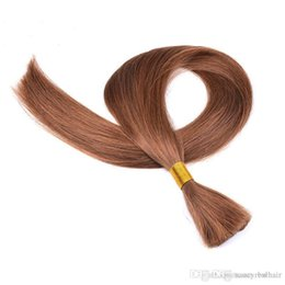 Brand Hair Colors Australia - Elibess Brand--100% Human Hair Bulk In Factory Price 3 Bundle 150g Brazilian Wave Bulk Hair For Braiding Hair Without Weft, Free DHL