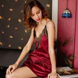 $enCountryForm.capitalKeyWord Australia - M-L hot sale ladies nightwear floral lace Lingeries hollow out sheer mesh dress women sexy sleepwear #S352