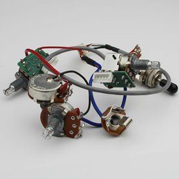 $enCountryForm.capitalKeyWord Australia - 1 Set LP SG Electric Guitar Pickup Wiring Harness Push Pull Switch Potentiometers For Epi No welding