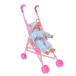 $enCountryForm.capitalKeyWord UK - Foldable Umbrella Doll Stroller with Handles Baby Trolley & Newborn Baby Infant Doll For Reborn Simulation Nursing Accessory