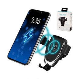 Wholesale Car Wireless Charger W Fast Wireless Charger Car Mount Air Vent Gravity Phone Holder Compatible for iPhone Samsung Huawei All Qi Devices