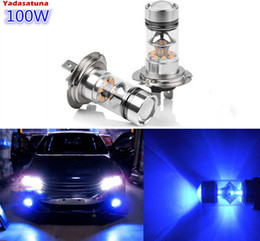 cree chips NZ - Pair Ultra Blue H7 20*5W Cree Chips 100W LED Car Bulbs For Driving Fog Light   Day Time Running Light DRL( H11 9005 9006)