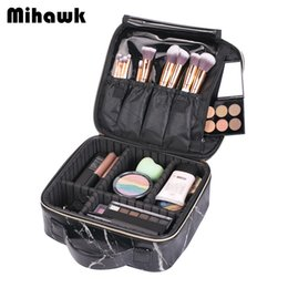 7217a45b1a5b Mihawk Beautician Cosmetic Bag Women Vanity Cases Makeup Suitcase Beauty  Case Professional Toiletry Brush Lipstick Pouch Supply