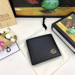 Wholesale Classic best short wallet with box women brand Genuine Leather square wallet leather purse women Money card holder size cm