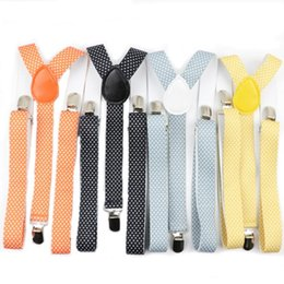 Discount metallic women belts wholesale - Dot Solid Color Man's Belt Men Women Suspenders Polyester Y-Back Braces Adjustable Elastic
