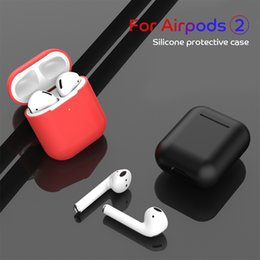 Best White Bags Australia - Luxury Silicone Protective for Apple Airpods 2nd Case Bluetooth Earphone Cover for Airpods 2 Shockproof Bags Best Quality TPU Headphone Cove