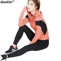 $enCountryForm.capitalKeyWord Australia - Women Running Shirts Hooed Sport Top Shirt Long Sleeve Fitness Top Gym Compression Breathable Sportswear Fitness Yoga Clothing