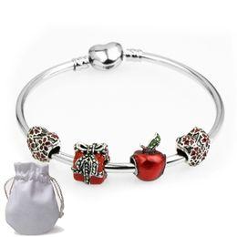 3a926e958 Apples jewelry set online shopping - Shining Stainless Steel Charms  Bracelets Fit Pandora Women Girl Boy