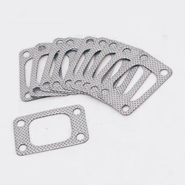turbocharger manifold Australia - Free-post Wholesale 10PCS LOT Graphite Aluminum Gasket for T04 T04E T3 Turbo Charger Engine Manifold Pipe EP-CGQ26S-FS
