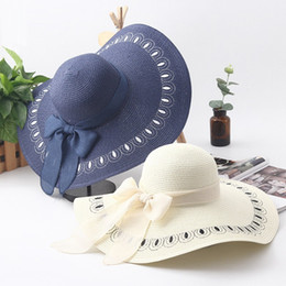 5c68c01d66b70 jujuland 2018 Female Summer Straw Hat Peacock Feather Embroidery Vacation  Beach Cap Foldable Big Brim Sun Hat For Women Girls  47417