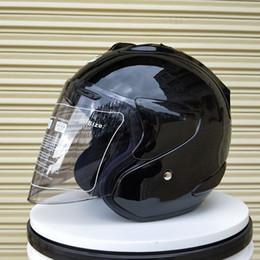 Half Helmet Black Australia - Black Motorcycle Helmet Casque Men Helmet Breathable Men Volante Esportivo Safety Half Helmet(Replica Product-COPY-Not Original)