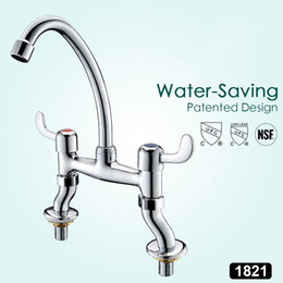 Sink two faucetS online shopping - Two Handle Centerset Bathroom Vessel Sink Faucet Modern Brass Bathroom Sink Faucets Chrome Finished Basin Faucet Bath Water Tap