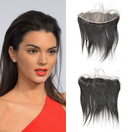 tangle shed free hair Australia - Silk Base Frontal 13x4 Straight Free Middle Part 8-26 Inch Brazilian Virgin Human Hair No Tangle No Shedding Hot Sale LaurieJ Hair
