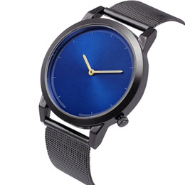 Second hand wholeSale online shopping - mens male business new trend alloy mesh belts watch fashion men leisure casual no second hand quartz wrist watches