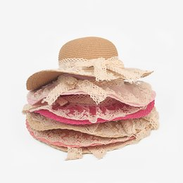$enCountryForm.capitalKeyWord UK - Lace Summer Sun Hats For Women New Fashion Sombreros Wide Brim Beach Side Cap Floppy Female Straw Hat for Girls Kids